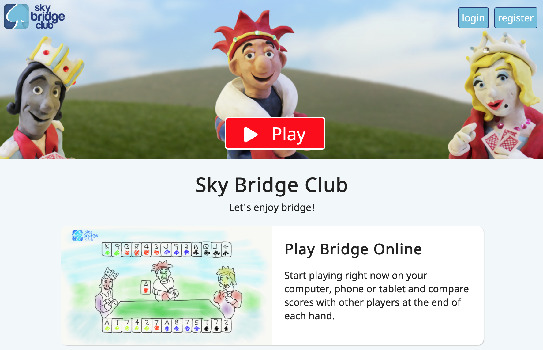 image of sky bridge club home page